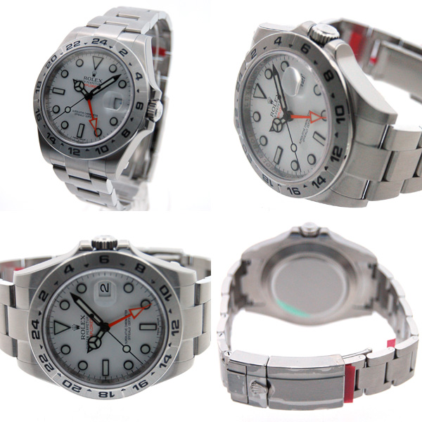 detailed pictures 593d4 0ccb9 ロレックス ROLEX エクスプローラー2 ホワイト Ref.216570 新型 GMT 新品