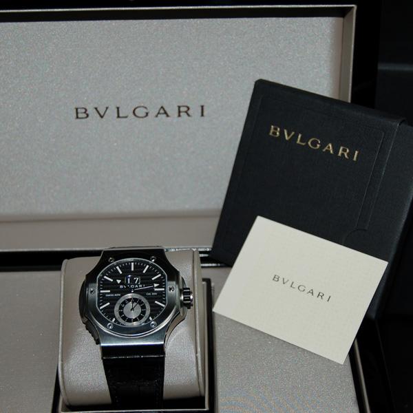 huge discount 97361 d375b ブルガリ BVLGARI ダニエルロート クロノスプリント BRE56BSLDCHS ブラック SS 自動巻 未使用